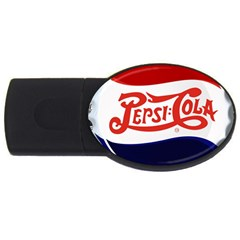 Pepsi Cola Usb Flash Drive Oval (4 Gb)  by Onesevenart