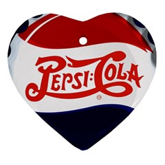 Pepsi Cola Heart Ornament (2 Sides) by Onesevenart