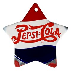 Pepsi Cola Star Ornament (two Sides)  by Onesevenart