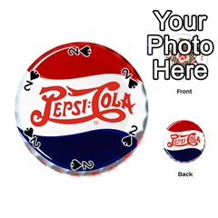 Pepsi Cola Playing Cards 54 (round)  by Onesevenart
