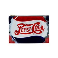 Pepsi Cola Cosmetic Bag (medium)  by Onesevenart