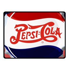 Pepsi Cola Fleece Blanket (small) by Onesevenart