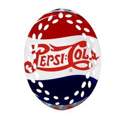 Pepsi Cola Oval Filigree Ornament (2 Side)  by Onesevenart