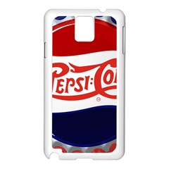 Pepsi Cola Samsung Galaxy Note 3 N9005 Case (white) by Onesevenart