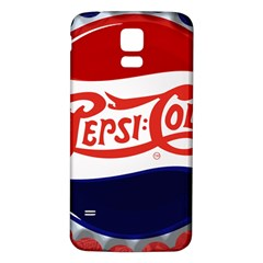 Pepsi Cola Samsung Galaxy S5 Back Case (white) by Onesevenart