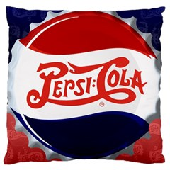 Pepsi Cola Large Flano Cushion Case (one Side) by Onesevenart