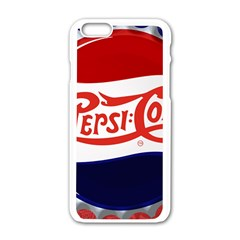 Pepsi Cola Apple Iphone 6/6s White Enamel Case by Onesevenart