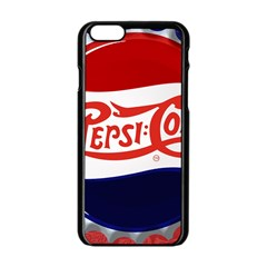 Pepsi Cola Apple Iphone 6/6s Black Enamel Case by Onesevenart