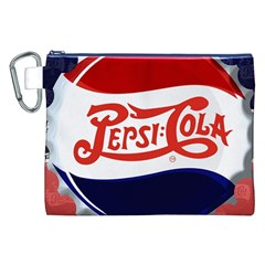 Pepsi Cola Canvas Cosmetic Bag (xxl) by Onesevenart