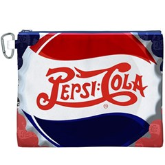Pepsi Cola Canvas Cosmetic Bag (XXXL) by Onesevenart