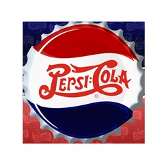 Pepsi Cola Small Satin Scarf (square) by Onesevenart