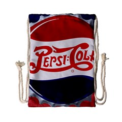 Pepsi Cola Drawstring Bag (small) by Onesevenart