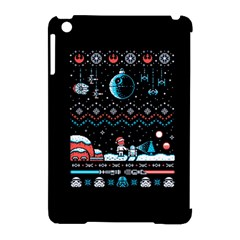 That Snow Moon Star Wars  Ugly Holiday Christmas Black Background Apple Ipad Mini Hardshell Case (compatible With Smart Cover) by Onesevenart
