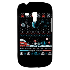 That Snow Moon Star Wars  Ugly Holiday Christmas Black Background Samsung Galaxy S3 Mini I8190 Hardshell Case by Onesevenart