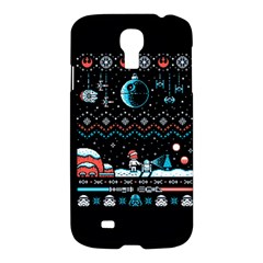 That Snow Moon Star Wars  Ugly Holiday Christmas Black Background Samsung Galaxy S4 I9500/i9505 Hardshell Case by Onesevenart