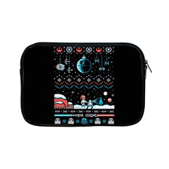 That Snow Moon Star Wars  Ugly Holiday Christmas Black Background Apple Ipad Mini Zipper Cases by Onesevenart