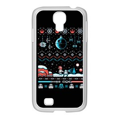 That Snow Moon Star Wars  Ugly Holiday Christmas Black Background Samsung Galaxy S4 I9500/ I9505 Case (white) by Onesevenart