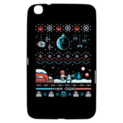 That Snow Moon Star Wars  Ugly Holiday Christmas Black Background Samsung Galaxy Tab 3 (8 ) T3100 Hardshell Case  by Onesevenart