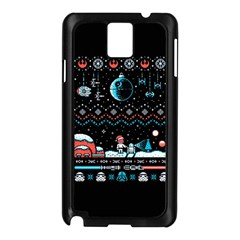 That Snow Moon Star Wars  Ugly Holiday Christmas Black Background Samsung Galaxy Note 3 N9005 Case (black) by Onesevenart