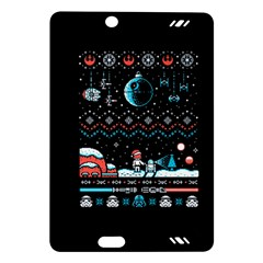 That Snow Moon Star Wars  Ugly Holiday Christmas Black Background Amazon Kindle Fire Hd (2013) Hardshell Case by Onesevenart