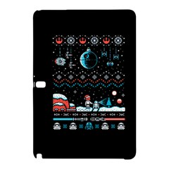 That Snow Moon Star Wars  Ugly Holiday Christmas Black Background Samsung Galaxy Tab Pro 12 2 Hardshell Case by Onesevenart
