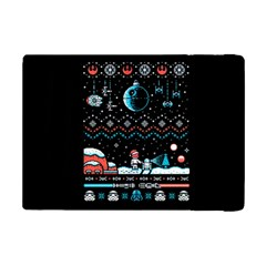 That Snow Moon Star Wars  Ugly Holiday Christmas Black Background Ipad Mini 2 Flip Cases by Onesevenart