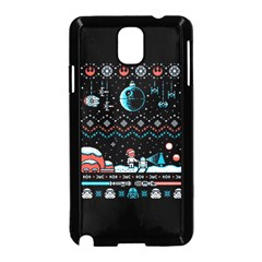That Snow Moon Star Wars  Ugly Holiday Christmas Black Background Samsung Galaxy Note 3 Neo Hardshell Case (black) by Onesevenart