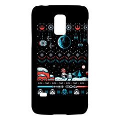 That Snow Moon Star Wars  Ugly Holiday Christmas Black Background Galaxy S5 Mini by Onesevenart