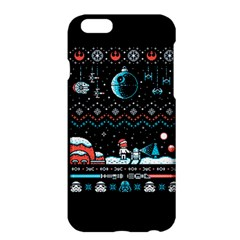 That Snow Moon Star Wars  Ugly Holiday Christmas Black Background Apple Iphone 6 Plus/6s Plus Hardshell Case by Onesevenart