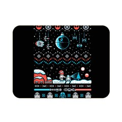 That Snow Moon Star Wars  Ugly Holiday Christmas Black Background Double Sided Flano Blanket (mini)  by Onesevenart