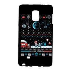 That Snow Moon Star Wars  Ugly Holiday Christmas Black Background Galaxy Note Edge by Onesevenart
