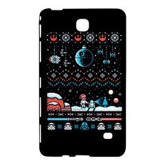 That Snow Moon Star Wars  Ugly Holiday Christmas Black Background Samsung Galaxy Tab 4 (8 ) Hardshell Case  by Onesevenart