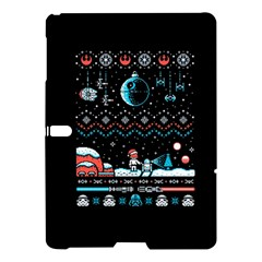 That Snow Moon Star Wars  Ugly Holiday Christmas Black Background Samsung Galaxy Tab S (10 5 ) Hardshell Case  by Onesevenart