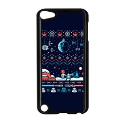 That Snow Moon Star Wars  Ugly Holiday Christmas Blue Background Apple Ipod Touch 5 Case (black) by Onesevenart