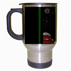 That Snow Moon Star Wars  Ugly Holiday Christmas Green Background Travel Mug (silver Gray) by Onesevenart
