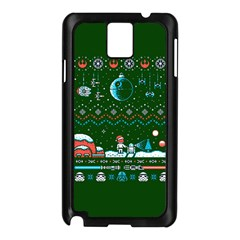 That Snow Moon Star Wars  Ugly Holiday Christmas Green Background Samsung Galaxy Note 3 N9005 Case (black) by Onesevenart