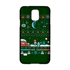 That Snow Moon Star Wars  Ugly Holiday Christmas Green Background Samsung Galaxy S5 Hardshell Case  by Onesevenart