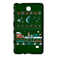 That Snow Moon Star Wars  Ugly Holiday Christmas Green Background Samsung Galaxy Tab 4 (8 ) Hardshell Case  by Onesevenart