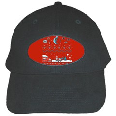 That Snow Moon Star Wars  Ugly Holiday Christmas Red Background Black Cap by Onesevenart