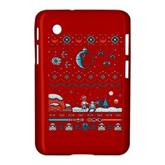 That Snow Moon Star Wars  Ugly Holiday Christmas Red Background Samsung Galaxy Tab 2 (7 ) P3100 Hardshell Case  by Onesevenart