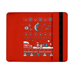 That Snow Moon Star Wars  Ugly Holiday Christmas Red Background Samsung Galaxy Tab Pro 8 4  Flip Case by Onesevenart