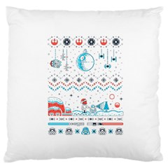 That Snow Moon Star Wars  Ugly Holiday Christmas Standard Flano Cushion Case (one Side) by Onesevenart