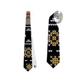 Ugly Summer Ugly Holiday Christmas Black Background Neckties (two Side)  by Onesevenart