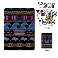 Ugly Summer Ugly Holiday Christmas Black Background Multi Purpose Cards (rectangle)  by Onesevenart