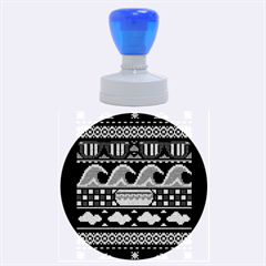 Ugly Summer Ugly Holiday Christmas Black Background Rubber Round Stamps (large) by Onesevenart