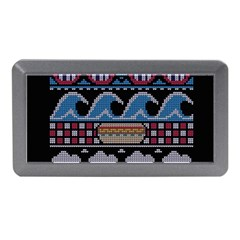 Ugly Summer Ugly Holiday Christmas Black Background Memory Card Reader (mini) by Onesevenart