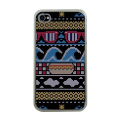 Ugly Summer Ugly Holiday Christmas Black Background Apple Iphone 4 Case (clear) by Onesevenart