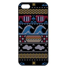Ugly Summer Ugly Holiday Christmas Black Background Apple Iphone 5 Seamless Case (black) by Onesevenart