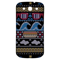 Ugly Summer Ugly Holiday Christmas Black Background Samsung Galaxy S3 S Iii Classic Hardshell Back Case by Onesevenart