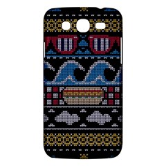 Ugly Summer Ugly Holiday Christmas Black Background Samsung Galaxy Mega 5 8 I9152 Hardshell Case  by Onesevenart